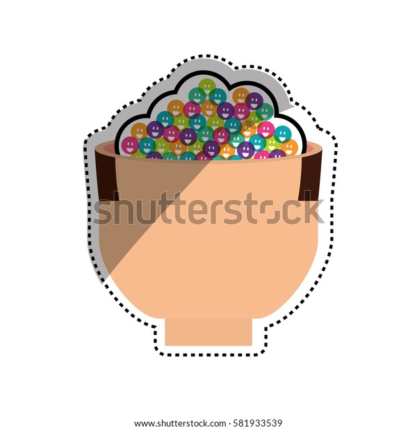 human head with emoticons icon vector illustration graphic design
