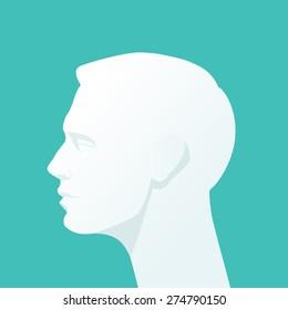 Human head. Flat illustration.