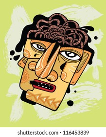 Human head with open boiling brain. Concept about person who is having a nervous breakdown.