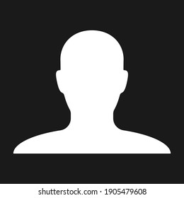 Human head shape vector icon. Person profile silhouette sign. Anonymous face user symbol. Avatar portrait logo. Clip-art illustration.