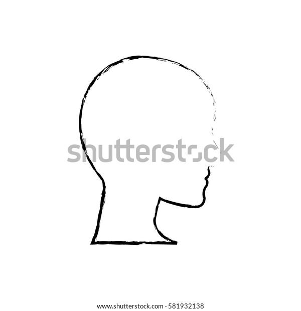 Human head silhouette icon vector illustration graphic design