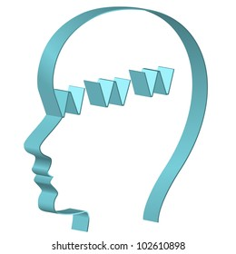 Human head with www symbol. Global internet concept.