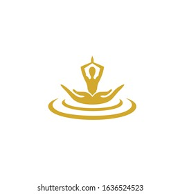 human health care logo, reflexology, zone therapy. logo templates for spa center or yoga studio.