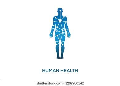 HUMAN HEALTH LOGO DESIGN