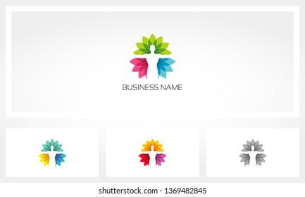 Human Health Yoga Lotus Logo