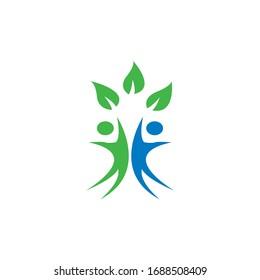 Human Healthy Life Logo template vector icon