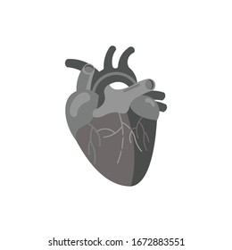 Human Heart Art Vector Illustration. Medicine Design Background