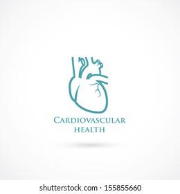 Human heart symbol - vector illustration