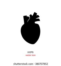 Human heart vector logo or icon