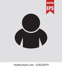 Human icon isolated on grey background.Vector illustration.
