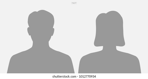 Human icon or people icon. Male and female. Man and woman sign and symbol for template design. Vector illustration.