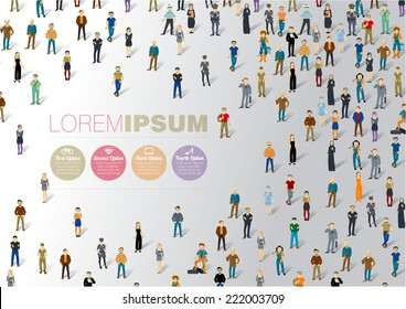 Human infographics.Vector template.