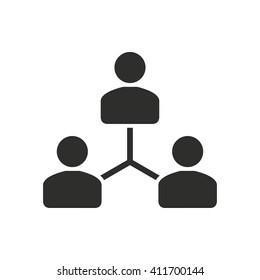 Human interaction   vector icon. Illustration isolated on white  background for graphic and web design.