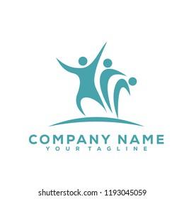 Human Leaf Tree Icon Medical Therapy Vector Design Logo Sea Green Creative Luxury