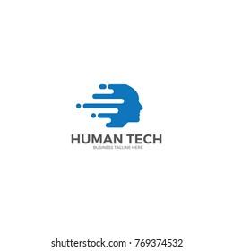Human logo template.