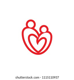 human love logo template
