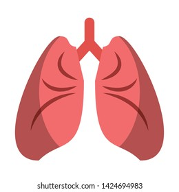 Human lungs cartoon isolated vector illustration graphic design