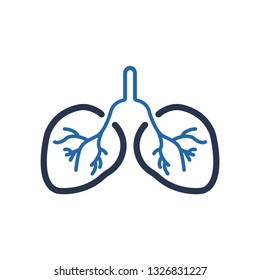 Human Lungs Icon, Pulmonology Icon, human lungs, Human Organ - Lungs Icon.