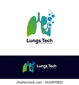 human lungs logo designs template, lungs technology logo design vector, respiratory system logo designs