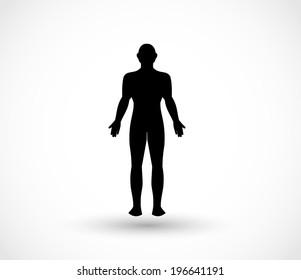 human body silhouette images stock photos vectors shutterstock https www shutterstock com image vector human male body vector 196641191