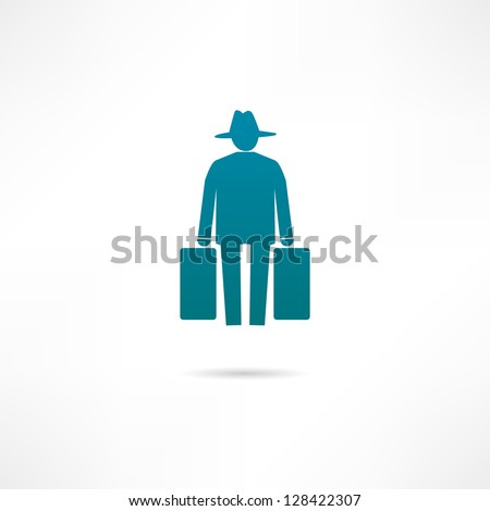 human migration icon stock vector royalty free 128422307