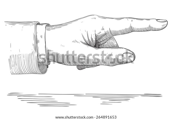 human pointing hand vector hand pointing stock vector royalty free 264891653 shutterstock
