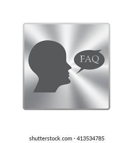 human profile picture with FAQ icon