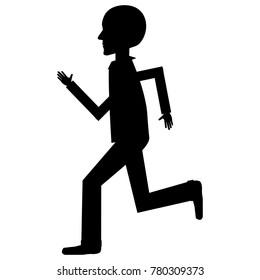 human profile running avatar