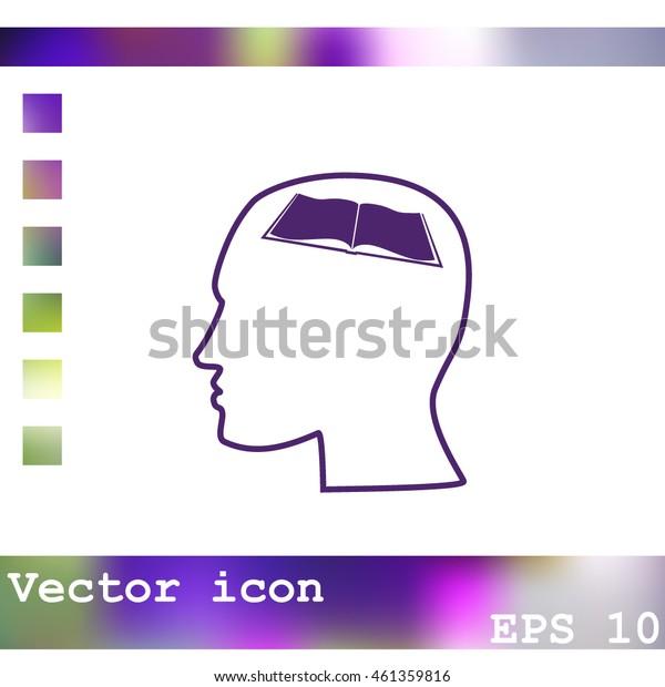 Human profile vector icon