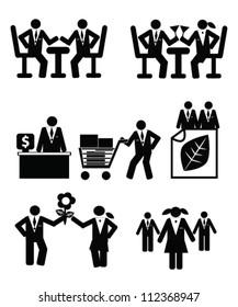 Human resource concept,marketing,dinner,icon set,Vector