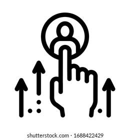 human resource enhancement icon vector. human resource enhancement sign. isolated contour symbol illustration