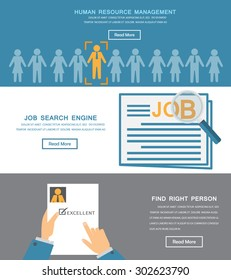 human resource, HR infographics element and background. recruitment process. Can be used for one page website, business data, web page design, cover page, brochure template. vector illustration