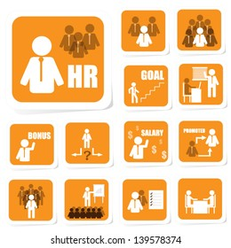 Human Resource Icon of Business Concept