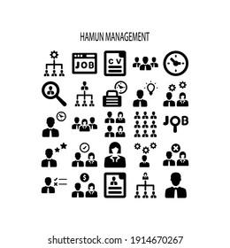 Human resource icon.people,human,avatar (vector illustration)