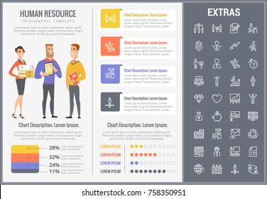 human resource infographic template elements icons stock vector