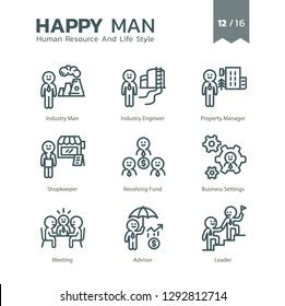 Human Resource And Life Style icon set 12