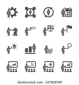 human resource management icon set 3, vector eps10.