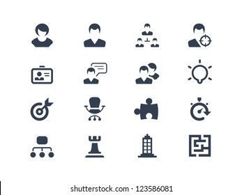 Human resource and strategy icons