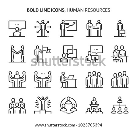 Human resources bold line