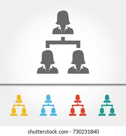 Human Resources Business Hierarchy Single Icon Vector Illustration