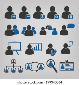 Human Resources Business Management Icons