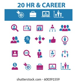 human resources, career icons