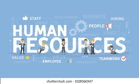 Human resources concept illustration. Idea of finding new staff.