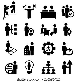 Human resources concepts icons