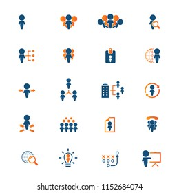 Human resources icon set. Vector illustration