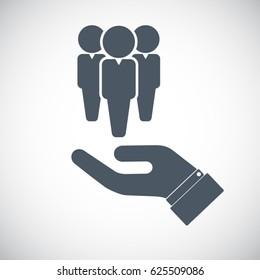 Human resources icon. Vector
