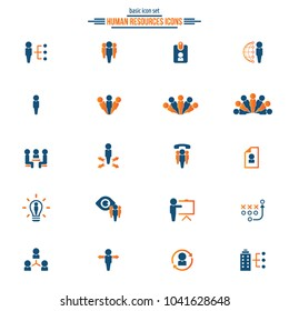 Human resources icons - human resource icon set.