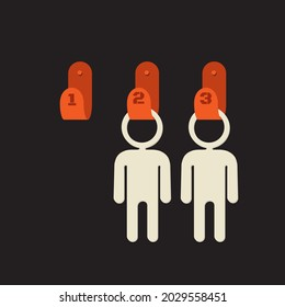 Human resources - illustration of unoccupied position or job