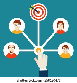 Human resources management. HR-management - vector illustration