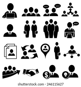 Human resources and management icons .vector